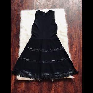 Parker Serene leather fringe dress